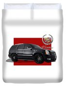 Cadillac Escalade With 3 D Badge  Duvet Cover