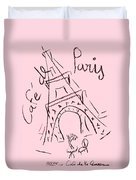 Cafe De Paris Duvet Cover
