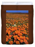 California Poppies Desert Dandelions California Duvet Cover