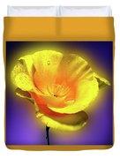 Californian Poppy. Duvet Cover