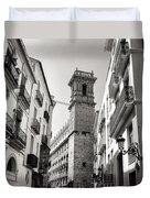 Calle Serranos In Valencia Duvet Cover