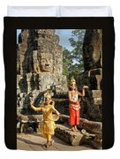 Cambodian Dancers At Angkor Thom Duvet Cover