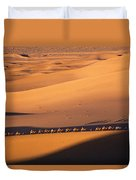 Camel Caravan Crosses The Dunes Duvet Cover