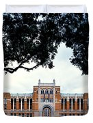 Campus Of Rice University Duvet Cover