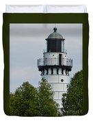 Cana Island Lighthouse Duvet Cover
