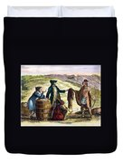 Canada: Fur Traders, 1777 Duvet Cover