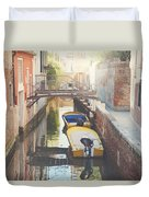 Canals Of Venice With Instagram Vintage Style Filter Duvet Cover
