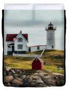 Cape Neddick Lighthouse 4 Duvet Cover