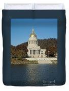 Capital Of West Virginia In Charleston Duvet Cover
