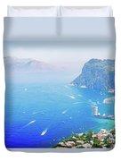 Capri Island, Italy Duvet Cover