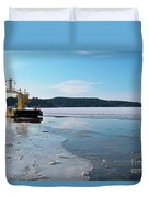 Car Ferry Duvet Cover