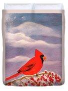 Cardinal Christmas Duvet Cover