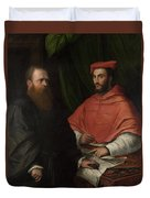 Cardinal Ippolito De Medici And Monsignor Mario Bracci Duvet Cover