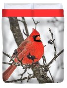 Cardinal Red Duvet Cover