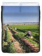 Carrot Harvest Duvet Cover