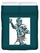 Carson Wentz Philadelphia Eagles Pixel Art 5 Duvet Cover