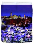 Casares By Night Duvet Cover