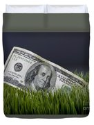 Cash In The Grass. Duvet Cover