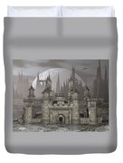Castle By Night - 3d Render Duvet Cover