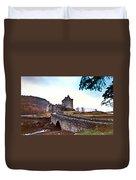 Castle Eilean Scotland Duvet Cover
