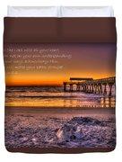 Castles In The Sand 2 Tybee Island Pier Sunrise Duvet Cover