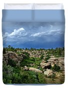 Castlewood Canyon And Rain Duvet Cover