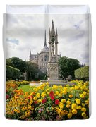 Cathedral Of Notre Dame Duvet Cover