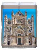 Cathedral Of Orvieto, Duomo Di Orvieto, Umbria, Italy Duvet Cover