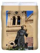 Catholic Cathedral Sante Fe Nm Duvet Cover
