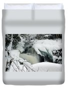 Cattyman Falls In Winter Duvet Cover