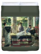 Catullus Reading His Poems Duvet Cover