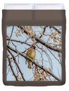 Cedar Waxwing Beauty Duvet Cover