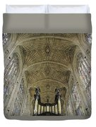 Ceiling Of Kings College Chapel Duvet Cover