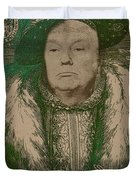 Celebrity Etchings - Donald Trump Duvet Cover