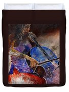 Cello Player  Duvet Cover