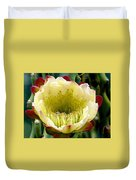 Cereus Cactus Flower Duvet Cover