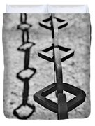 Chained Shadows Duvet Cover