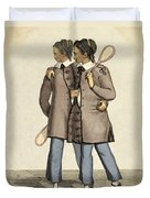 Chang And Eng, Siamese Twins Duvet Cover