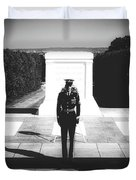 Changing Of The Guard At The Tomb Of The Unknowns At Arlington Duvet Cover