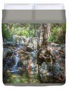 Chantara Waterfalls - Cyprus Duvet Cover
