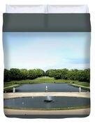 Chantilly Castle Garden In France Duvet Cover