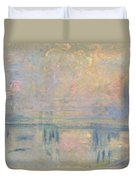 Charing Cross Bridge Duvet Cover by Claude Monet