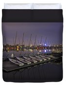 Charles River Boats Clear Water Reflection Duvet Cover