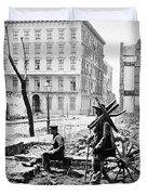 Charleston Ruins, 1865 Duvet Cover