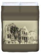 Charleston Style Houses Duvet Cover
