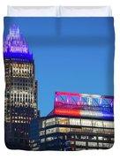 Charlotte North Carolina Skyline City View Duvet Cover