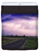 Chasing The Storm - County Rd 95 And Highway 52 - Colorado Duvet Cover