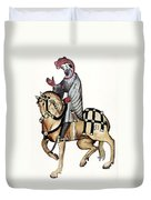 Chaucer: Canterbury Tales Duvet Cover