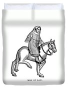 Chaucer: The Man Of Law Duvet Cover