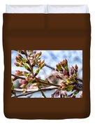 Cherry Tree Buds Duvet Cover